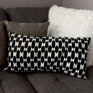 Rare IKEA black & white soda accent pillow